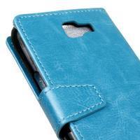 Leat peněženkové pouzdro na LG K4 - modré - 3/6