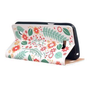 Style peňaženkové puzdro pre LG K4 - kvetinová koláž - 3