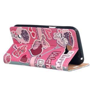 Style peněženkové pouzdro na LG K4 - srdce - 3