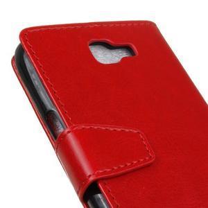 Leat peňaženkové puzdro pre LG K4 - červené - 3
