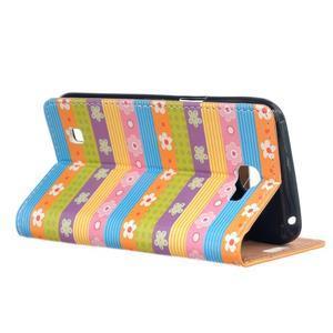 Style peňaženkové puzdro pre LG K4 - farebné kvetiny - 3