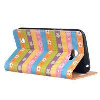 Style peňaženkové puzdro pre LG K4 - farebné kvetiny - 3/5