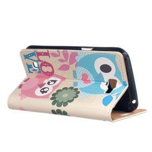 Style peňaženkové puzdro pre LG K4 - zamilované malej sovy - 3