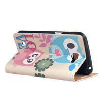 Style peňaženkové puzdro pre LG K4 - zamilované malej sovy - 3/5