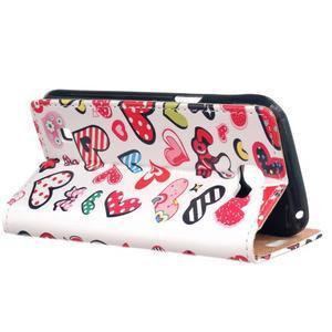 Style peňaženkové puzdro pre LG K4 - koláž srdiečok - 3