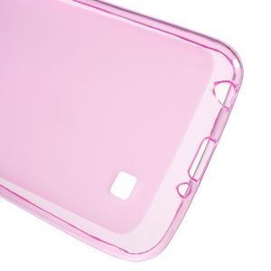 Matný gélový obal pre mobil LG K4 - ružové - 3