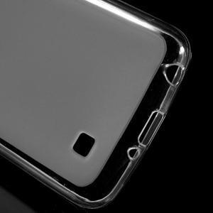 Matný gélový obal pre mobil LG K4 - biele - 3