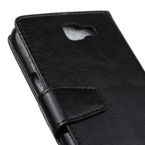Leat peněženkové pouzdro na LG K4 - černé - 3