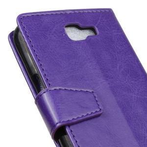 Leat peněženkové pouzdro na LG K4 - fialové - 3