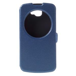Trend pouzdro s okýnkem na mobil LG K4 - modré - 3