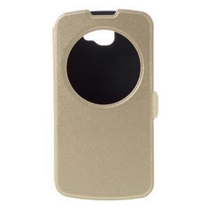 Trend puzdro s okienkom na mobil LG K4 - zlaté - 3