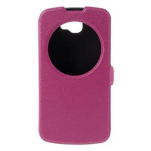 Trend puzdro s okienkom na mobil LG K4 - rose - 3