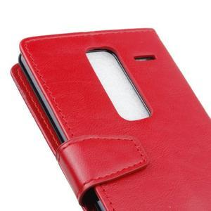 Sitt PU kožené pouzdro na mobil LG Zero - červené - 3