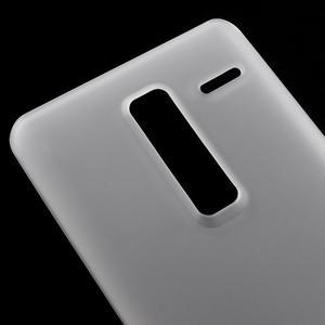 Matný gélový obal pre mobil LG Zero - biely - 3