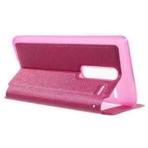 Cross peňaženkové puzdro s okienkom na LG Zero - rose - 3