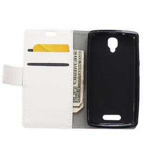 Wallet puzdro pre mobil Lenovo A1000 - bielé - 3