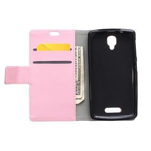 Wallet puzdro pre mobil Lenovo A1000 - ružové - 3