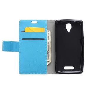 Wallet puzdro pre mobil Lenovo A1000 - modré - 3