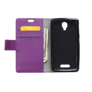 Wallet puzdro pre mobil Lenovo A1000 - fialové - 3