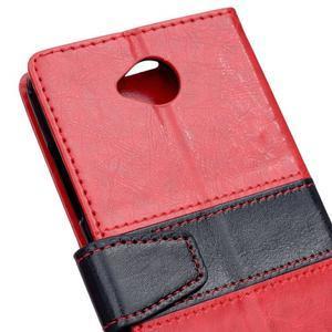 Flag peněnžekové puzdro pre Microsoft Lumia 650 - červené - 3
