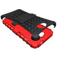 Outdoor odolný obal pre mobil Microsoft Lumia 650 - červený - 3/5