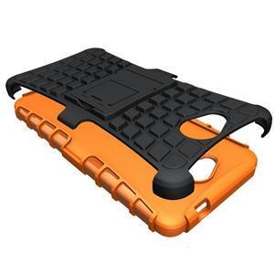 Outdoor odolný obal pre mobil Microsoft Lumia 650 - oranžový - 3