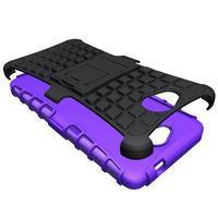 Outdoor odolný obal pre mobil Microsoft Lumia 650 - fialový - 3/5