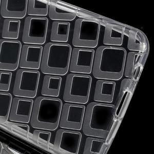 Square gélový obal na mobil Samsung Galaxy A3 (2016) - transparentný - 3