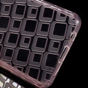 Square gélový obal pre mobil Samsung Galaxy A3 (2016) - ružový - 3
