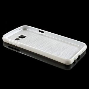 Gélový obal s motivem broušení na Samsung Galaxy A3 (2016) - biely - 3