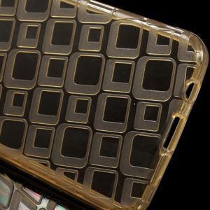 Square gélový obal na mobil Samsung Galaxy A3 (2016) - zlatý - 3