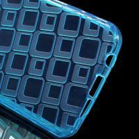 Square gélový obal pre mobil Samsung Galaxy A3 (2016) - modrý - 3/5