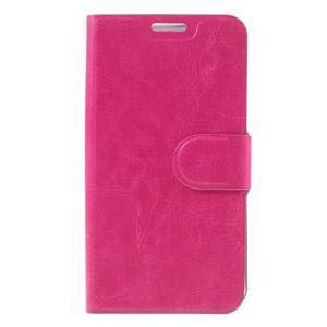Horse peňaženkové puzdro pre Samsung Galaxy A3 (2016) - rose - 3