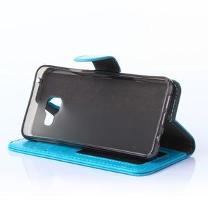 Wallet puzdro na mobil Samsung Galaxy A3 (2016) - modré - 3
