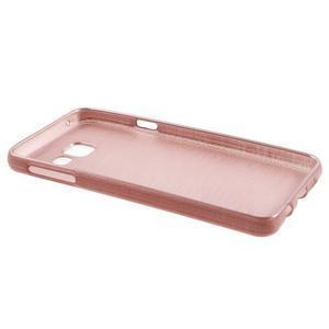 Gélový obal s motivem broušení na Samsung Galaxy A3 (2016) - růžový - 3
