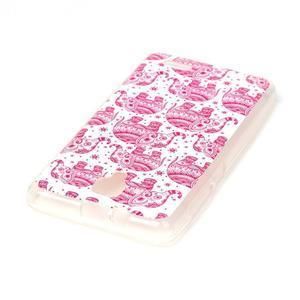 Gélový obal pre mobil Lenovo A536 - ružoví slony - 3