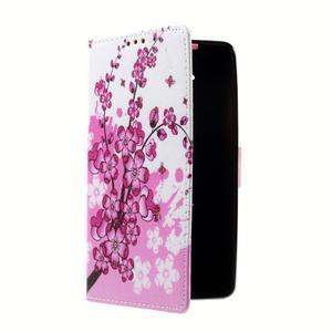 Peňaženkové puzdro pre mobil Lenovo A536 - kvitnúca vetva - 3