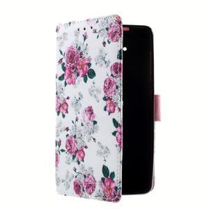 Peňaženkové puzdro na mobil Lenovo A536 - květiny - 3