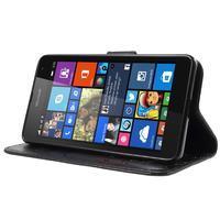 Butterfly peňaženkové puzdro na Microsoft Lumia 535 - čierné - 3/7