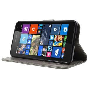 Butterfly peňaženkové puzdro na Microsoft Lumia 535 - šedé - 3