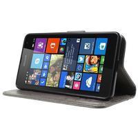 Butterfly peňaženkové puzdro na Microsoft Lumia 535 - šedé - 3/7