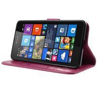 Butterfly peňaženkové puzdro na Microsoft Lumia 535 - rose - 3/7