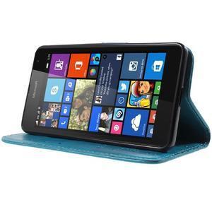 Butterfly peňaženkové puzdro na Microsoft Lumia 535 - modré - 3