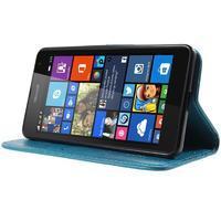 Butterfly peňaženkové puzdro na Microsoft Lumia 535 - modré - 3/7