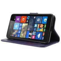Butterfly peňaženkové puzdro na Microsoft Lumia 535 - fialové - 3/7