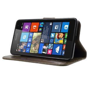 Butterfly peňaženkové puzdro na Microsoft Lumia 535 - coffee - 3