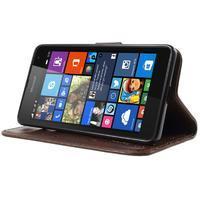 Butterfly peňaženkové puzdro na Microsoft Lumia 535 - hnedé - 3/7