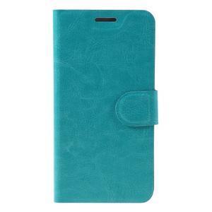 Horse peňaženkové puzdro pre mobil Microsoft Lumia 650 - modré - 3