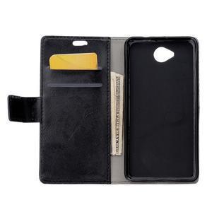Fold peňaženkové puzdro na Microsofst Lumia 650 - čierné - 3