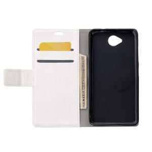 Fold peňaženkové puzdro na Microsofst Lumia 650 - biele - 3